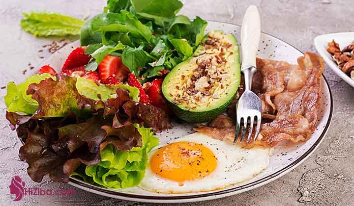 بخش۲ :دستورهای ناهار آشپزی کتوژنیک