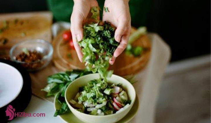 مواد غذایی غیرمجاز در رژیم 40 روزه خام گیاه خواری
