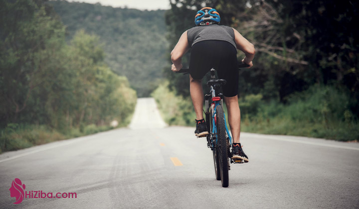 2. دوچرخه سواری و لاغری ران