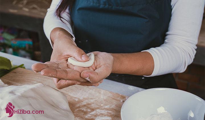 مرحله آخر طرز تهیه نان کتویی