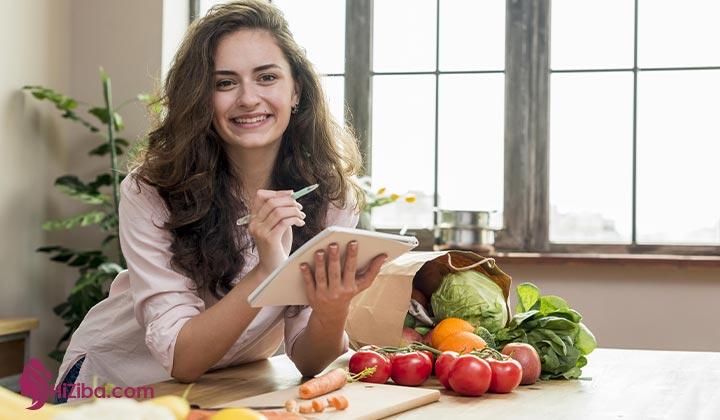 نمونه دستور برنامه رژیم 40 روزه خام گیاه خواری