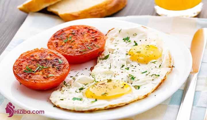 یک نمونه صبحانه ترکیبی:
