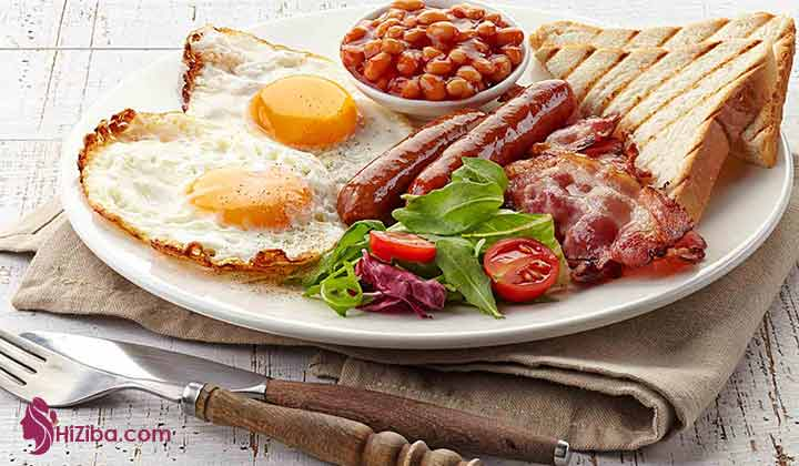 یک نمونه پیشنهادی صبحانه پروتئین محور: