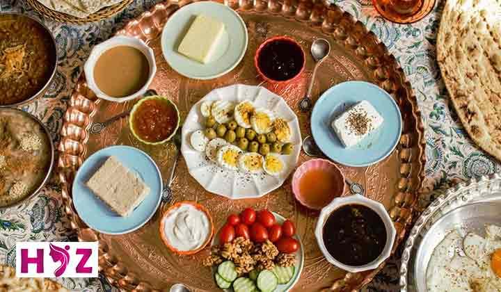 یک هفته برنامه غذایی برای سحری و افطار