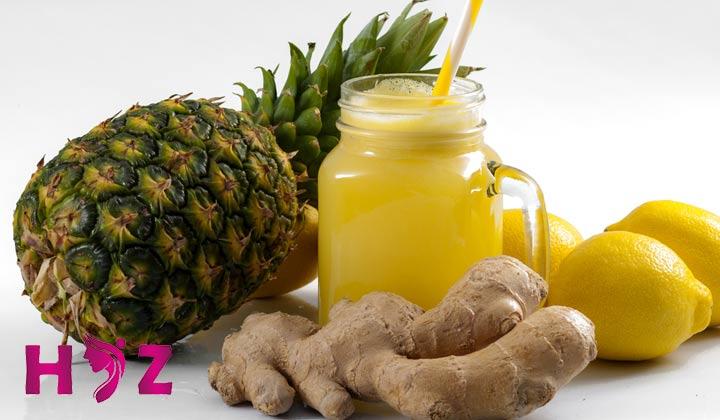 آناناس و زنجبیل